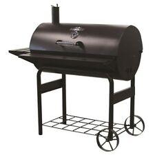 Charcoal Grill 37.5in Cart Barrel Wood Backyard Patio Home BBQ Barbecue Portable