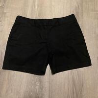Ann Taylor LOFT Womens Shorts Sz 8 Black Chinos Short Classic Summer Casual WP37