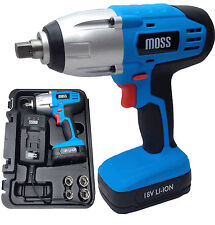 "18v Li-Ion Cordless Impact Wrench Gun 1/2"" Drive High Torque 300Nm Lithium"
