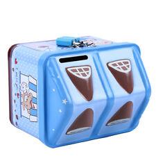Blue Piggy Bank Money Coin Box Bear House Model Money Save Box Birthday Gift S
