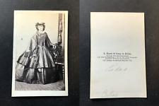Haase, Berlin, Fräulein Cubas, circa 1860 vintage cdv albumen print -  CDV, ti