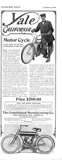 Yale California Motor Cycle   -  Consolidated Manufacturing Co.  -   1907 Ad