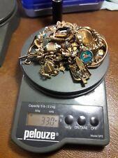 Antique  10 k, 12 k, 14 k Gold Filled Jewelry & Pins Scrap Lot 330 grams