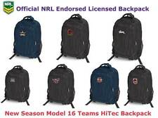 NRL Team Logo Backpack Official Licensed HiTec Functional Sports Bag Brand New