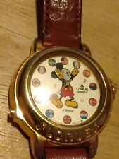 Vtg Lorus Disney Mickey Mouse Musical watch, Plays tunes running new battery A