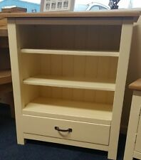 SOLID WOOD PAINTED BOOKCASE, DRAWER ,SHELF,STORAGE UNIT WITH OAK TOPS