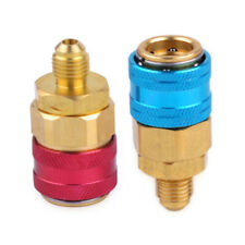 Useful 2x R134a Low High Side AC Manifold Quick Coupler Connector Adapters Male