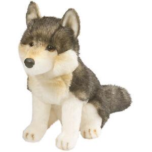 """Wolf """"Atka"""" Plüschtier Stofftier Plüsch-Kuscheltier H: 27 cm NEU"""