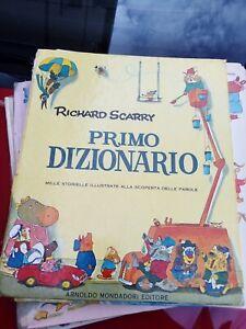 RICHARD SCARRY - PRIMO DIZIONARIO  - CARTONATO MONDADORI 1979 - da rilegare