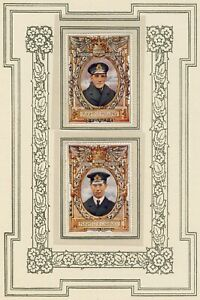 LORD ROBERTS MEMORIAL STAMPS RARE 2nd SERIES (1917) TWO R.N.A.S. D.S.O. WINNERS