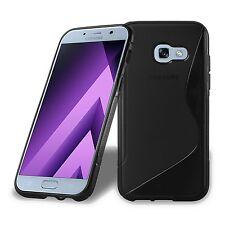 Pour SAMSUNG Galaxy A5 (2017) A520 - Coque Gel Silicone S-Line NOIR