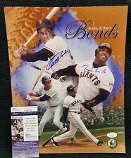 BOBBY BONDS & BARRY BONDS Signed Autograph SF Giants 11x14 Photo. JSA