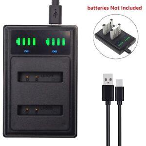 USB Dual Li-50B Battery Charger for OLYMPUS VR-340 VR-350 VR-360 VR-370 VH-410