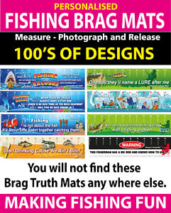 Personalised Fishing Measure And Release Brag Mat Funny