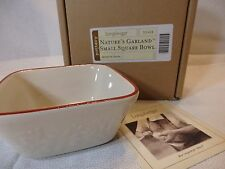 Longaberger Pottery Nature's Garland Small Square Bowl