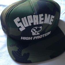 Supreme Hat Cap ad alto contenuto proteico Camo Nuovo di Zecca
