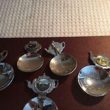 AUSTRALIANA TEA CADDY SPOONS X5 2 SPOONS SILVER PLATE