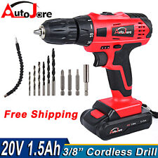 New Electric Drill Cordless Dril Driver Drill Li Ion Battery Powerful Tool