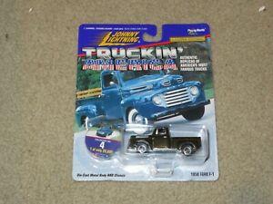Johnny Lightning Truckin' America 1950 Ford F-1 Pickup Truck Black MOC 1997
