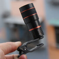 Phone Camera Lens 8X 18mm Zoom Telephoto Monocular for Mobile Phone + Clip