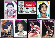 1975-76 TOPPS 133 60 ELVIN HAYES, WES UNSELD, GIANELLI,  BIBBY, HASKINS, PERRY +