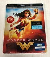 Wonder Woman 4K Ultra HD HDR Blu-Ray Steelbook Spine Slash Dings & Imperfections