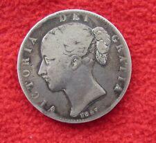 British Coins   -  1847  Queen Victoria   -    Crown