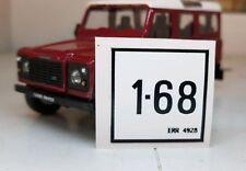 Land Rover Discovery 1 200TDi 300TDI ERR4928 Compartimento Del Motor Etiqueta