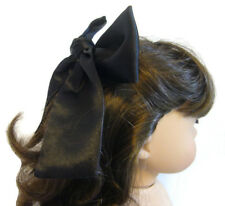 """For 18"""" American Girl Doll Accessories Black Satin Hair Bow works for Samantha"""