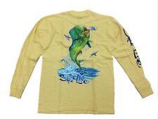 8e479ccfb Salt Life Long Sleeve Mahi Explosion Graphic Tee Shirt Cotton Yellow XL