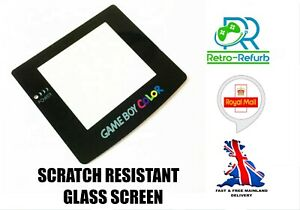 Nintendo GameBoy Color Glass Screen Lens Replacement Adhesive Game Boy Colour UK