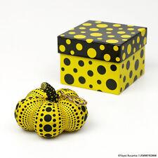 Yayoi Kusama Soft Sculpture Pumpkin Mascot Plush key Ring  yellow Japan NEW F/S