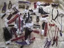 GROS LOT de 62 bracelets et colliers en CUIR divers modèles - NEUF