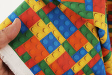 Lego Block Patterned Fabric made in Korea By the Yard