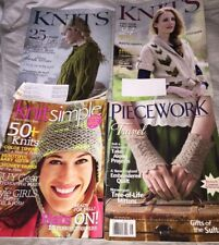 Lot of 4 Knitting Magazines Piecework, Interweave Knits, Knit simple