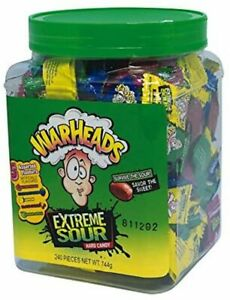 903478 744G Tub Of Warheads Extreme Sour Fruit Flavoured Hard Candy Wrapped NEW