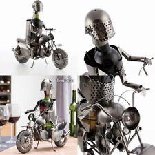 Botellero de metal motorista con casco 43x26,5x15 cm,para,vino,etc,enología