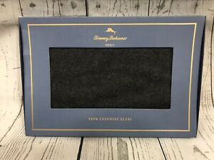 Tommy Bahama Mens Charcoal Gray 100% Cashmere Scarf One Size NWT