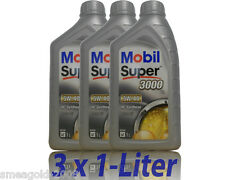 Mobil Super 3000 X1 5W-40 3x1 Litro Aceite Motor BMW LL01, Opel, MB 229.3