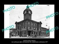 OLD POSTCARD SIZE PHOTO OF SAULT STE MARIE ONTARIO CANADA THE POST OFFICE c1927