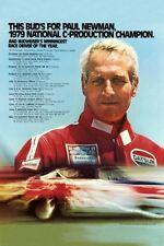 "Paul Newman Racing Poster Mini 11""X17"""