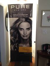 MAXIBIT ZAP PORTABLE BANNER STAND FULL SIZE SET UP WITH CARRY CASE PORTABLE
