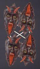 originaler uralter Oblaten Bogen 4 x Krampus - DIE CUT SCRAPS