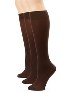 New Hue Soft Opaque Knee High size 1 Espresso Sock Socks