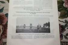 1887 Bauverwaltung 47/Mannheim Pont 2/Wiesbaden/Gondrexange