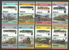 Bequia St Vincent Locomotives Trains Lokomotiven ** 1984 Surch Specimen Ovpt