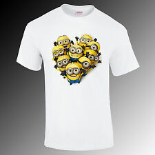Minion Love Dispicable Me t-shirt, movie, super hero Gift humor Funny S-XXL