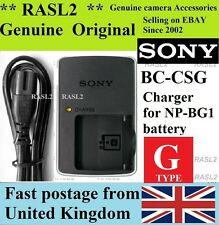 Genuine Sony Caricabatteria BC-CSG np-bg1 dsc-h55 DSC-h50 hx5 dsc-h7 V h10 t100 n2 n1