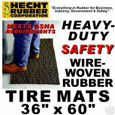 "36"" x 60"" Rubber Tire Heavy Duty Safety Matting"