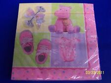 Teeny Tiny Girl Pink Baby Shower Party Luncheon Napkins